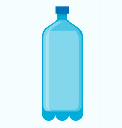 Big plastic bottle of fresh water isolated vector