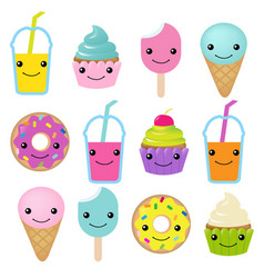 Collection of sweets emotion vector