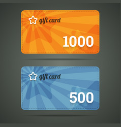 Gift card template with star and number vector