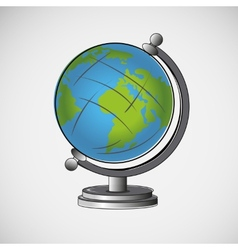 School globe on a light background vector