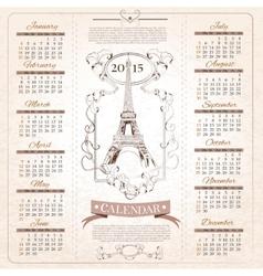 Retro Calendar for 2015 vector image