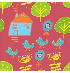 Tweeting birds background vector
