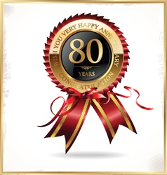80 years anniversary label vector image