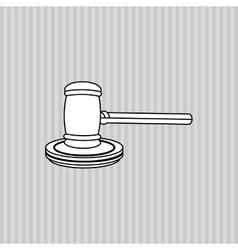 Justice hammer design vector