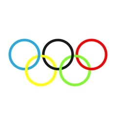 Olympic rings olympics circles vector