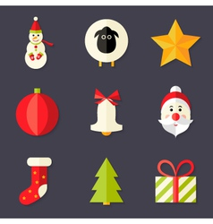 9 christmas icons set 8 vector