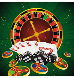 roulette green all vector image