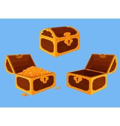 Antique chest set vector image