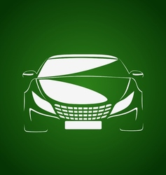 Auto in green vector image vector image