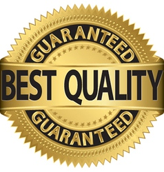 Best quality guaranteed gold label vector image vector image