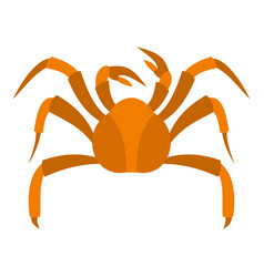 big crab icon isolated vector image vector image