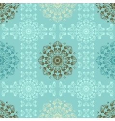 Blue seamless pattern for wall Wallpaper fabric vector image