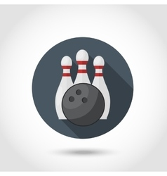 Bowling icon set vector image vector image