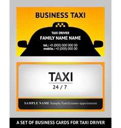 Business cards taxi - set vector