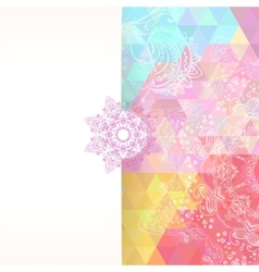 Colorful rainbow triangular background vector image vector image