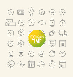 different trendy outline icons collection web and vector image vector image