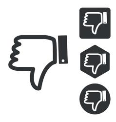 Dislike icon set monochrome vector