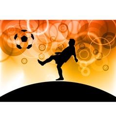 Footbal player vector
