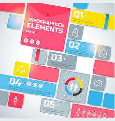 geometric infographic business template vector image vector image