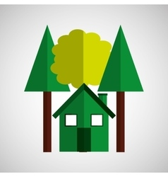 green house tree ecological design vector image