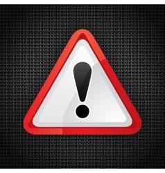 hazard warning symbol vector image vector image