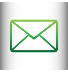 Letter sign green gradient icon vector