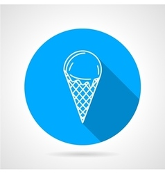 Line icon for ice cream vector image vector image