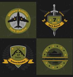 Military ensign design concept vector