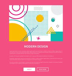 modern design pink web page vector image vector image