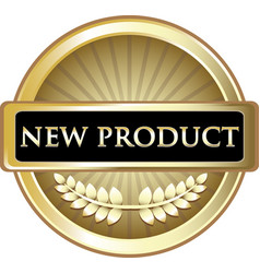 New product gold label vector
