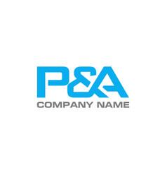 Pa letter logo design template vector