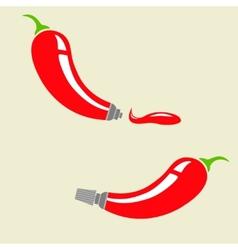 Pepper tube vector image vector image