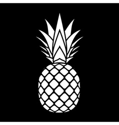 Pineapple silhouette icon vector
