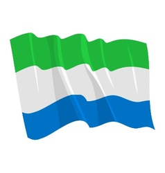 political waving flag of sierra leone vector image