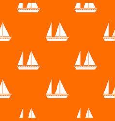 Sailing boat pattern seamless vector