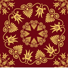 Seamless vintage elegant lace gold greek ornament vector