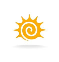 Sun spiral logo vector image vector image