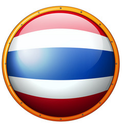 Thailand flag on round button vector