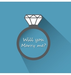 Will you marry me ring sign icon vector