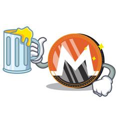 With juice monero coin character cartoon vector