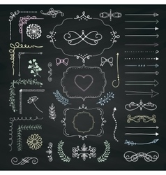 Set of decorative hand drawn design vector
