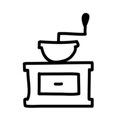 coffee grinder isolated icon vector image
