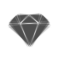Diamond sign   gray icon vector