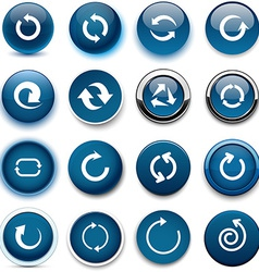 Round dark blue arrow icons vector