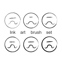 Ink art brush set vector