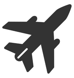 Airplane flat icon vector