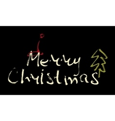 Hand written inscription merry christmas vector
