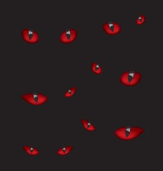 Devil eyes in the dark vector image