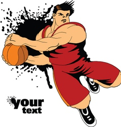 Action backetball player vector