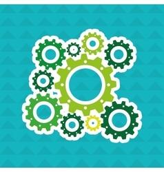 gears machine design vector image